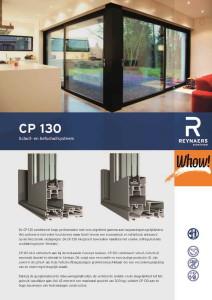 Schuifdeur aluminium cp130